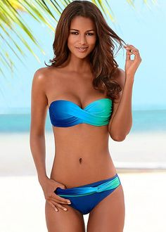 The suit for the girl who loves the ocean as much as we do...Venus Ombre bandeau top with moderate bottom.