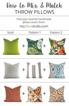 How to Mix and Match pillow covers like a pro Couch Pillow Covers, Outdoor Pillow Covers, Pillow Cover Design, Diy Pillows, Sofa Pillows, Pillow Ideas, Living Room Pillows, Pillow Room, Handmade Pillow Covers