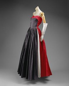 Dress, Evening  Madame Grès (Alix Barton)  (French, Paris 1903–1993 Var region)  Date: 1951 Culture: French Medium: silk.  Credit Line: Gift of Mrs. Robert E. Pabst, 1994!!!