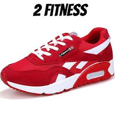 2 Fitness Red Shoes Women For Gym 43712b5dc70