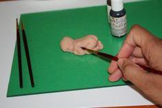 Gumpaste baby tutorial using baby mould