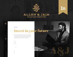 "Dai un'occhiata a questo progetto @Behance: ""Allen & Jain Website"" https://www.behance.net/gallery/38473025/Allen-Jain-Website"