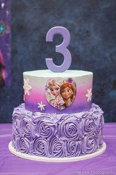 Original torta para celebración de cumpleaños Frozen