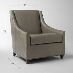 Sweep Leather Armchair | west elm