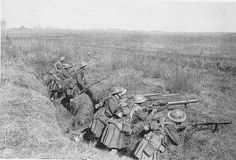 Above are the men of the 1/5th Gordon Highlanders in an old trench near Nesle on March 24th (1918).