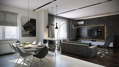 Amazing Apartments that Make Creative Use of Texture and Pattern | http://www.designrulz.com/design/2014/11/open-apartments-that-make-creative-use-of-texture-and-pattern/
