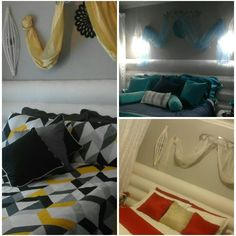 Same bedroom ,different  colours,