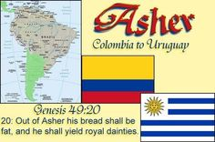 Tribe of Asher | Tribe of Asher so called Columbians,brazilians etc by 12TribesOfIsrael