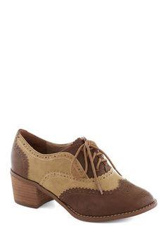 I'd Rather Walk Heel in Brown, #ModCloth