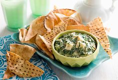 spinach, onion and feta dip Carnation Milk Recipes, Feta Dip, Palak Paneer, Hummus, Free Food, Cooking Tips, Spinach, Onion, Dips