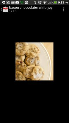 Chocolate Chip & (turkey) bacon cookies #yummmmm (maybe)