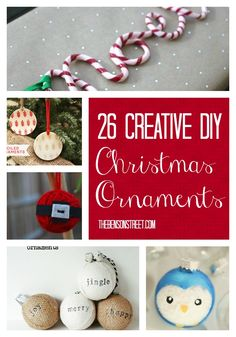 26 Easy, Creative & Fun DIY Ornaments at thebensonstreet.com #christmas #ornament #diy #handmade #thebensonstreet