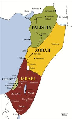 Map of Israel and Judah in the Book of Kings  Bible Study