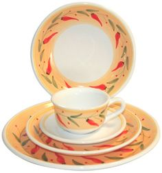 Caleca Chili Peppers 5Piece Dinnerware Place Setting Service for 1 *** To view further  sc 1 st  Pinterest & Caleca Chili Peppers 16-Piece Dinnerware Set Service for 4 Caleca ...