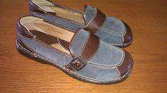 BORN Women's Shoes Loafers Blue Leather Size 8 39 M w W2820 | eBay
