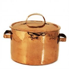 Copper stockpot with lid, French, late 19th century  (III.53)