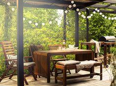 Mehr Grün für dein Zuhause! Alles angerichtet für dein Draußenzimmer. Jetzt bei IKEA mehr erfahren!