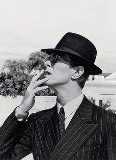 Portrait de David Bowie dans les années 70