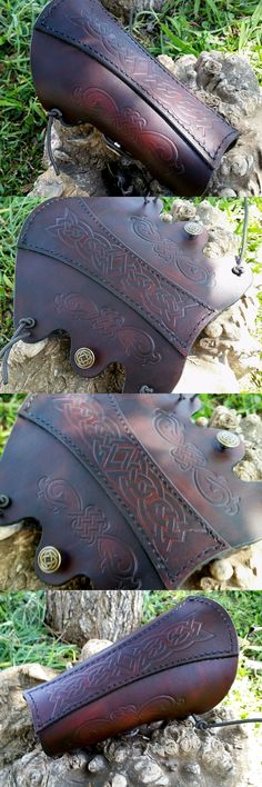 Arm Guards and Chest Guards 181298: Archery Arm Guard Bracer Ragnar Viking Traditional Archery Recurve Longbow -> BUY IT NOW ONLY: $45 on eBay!