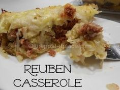 This Reuben Casserole is a huge favorite of ours!! It is requested at least once a week!!
