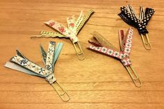 Deluxe Ribbon Plannerclips by BookmarkBitches on Etsy