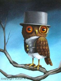 'A Dapper Owl' by Susan Boerman