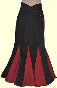 Retroscope Fashions Victorian & Steampunk!  Black and Burgundy Victorian Pleated Slim Skirt.  $99.99.  Found at http://www.retroscopefashions.com/lolita5.html
