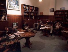 Scene: Aristide, Mauro, Lucio, and Pierro gossiping about Paulo in Study Hall.