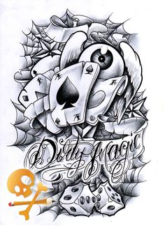 Flying eyeball sleeve cards dice spider web and nautical star dj tattoo, poker tattoo, Gangsta Tattoos, Chicano Tattoos, Skull Tattoos, Body Art Tattoos, Sleeve Tattoos, Dj Tattoo, Poker Tattoo, Card Tattoo, Wrist Tattoo