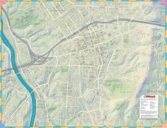 El mapa de Asheville es una herramienta útil para los turistas y un bonito recuerdo...