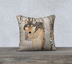 Lone Wolf / pillow case / / / art wildlife nature painting / home decor / winter / snow/ white / grey / timber wolves : Lone Wolf / pillow case / 18 / / art wildlife Baby Wolves, Red Wolves, Deer Hunting Blinds, Timber Wolf, Bull Riding, Wolf Howling, Archery Hunting, Lone Wolf, Wildlife Nature