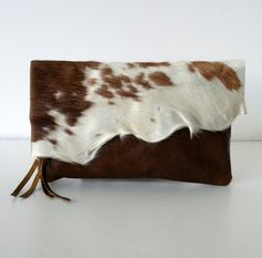PRETTY PONY CLUTCH  Raw Edge Spotted Hair on Hide by margeandrudy, $110.00