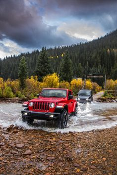 The brand new 2018 Jeep® Wrangler Rubicon and the brand new 2018 Jeep® Wrangler Sahara - Vehicles - Cars 2019 Red Jeep, Black Jeep, Jeep Jl, Jeep Cars, Jeep Sahara, Jeep Wrangler Rubicon, Jeep Wrangler Unlimited, Jeep Wrangler Truck, Jeep Truck