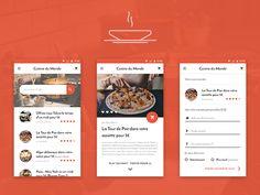 Food App Design by Benjamin Eggen