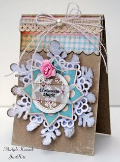 Wonderful layers on the snowflake. #Christmas #cards #paper_crafting
