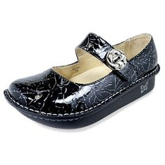 Alegria Shoes - Alegria Paloma Black Etched Mary Jane Shoe, I have this pair & love them to death ! Me Too Shoes, Tap Shoes, Dance Shoes, Scrub Shoes, Nursing Shoes, Nursing Scrubs, Medical Scrubs, Mary Jane Clogs, Alegria Shoes