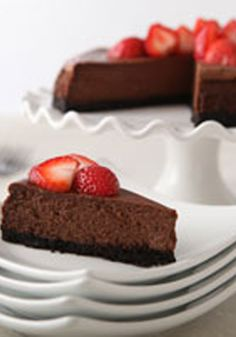 Our Best Chocolate Cheesecake- For your friends and family, nothing but the best will do. When it comes to dessert, this rich, creamy chocolate cheesecake with a chocolate cookie crust tops the list.