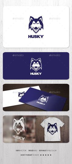 Husky  Logo Design Template Vector #logotype Download it here: http://graphicriver.net/item/husky-logo/12756789?s_rank=1116?ref=nexion