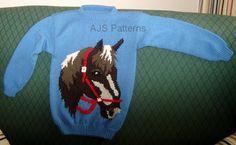 PDF Knitting Pattern Horse Horse's Head Motif by TheKnittingSheep