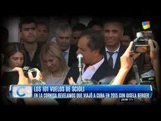 """""""Los 101 vuelos de Scioli"""" pagos por el Estado, con fines privados y pro... Cuba, Cornices"""