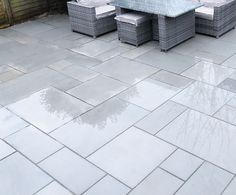 Kandla Grey Indian Sandstone - Patio Slabs - Paving Stones - Nustone Kandla Grey Sandstone Sawn and Sandstone Paving Slabs, Grey Paving, Paving Stones, Limestone Paving, Garden Slabs, Patio Slabs, Garden Stones, Patio Stone, Bluestone Patio