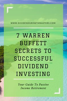 7 Warren Buffett secrets to successful dividend investor. What can we learn from the world's greatest investor and apply to passive income dividend investing? be a long-term stock owner. Stock Market Investing, Investing In Stocks, Investing Money, Real Estate Investing, Saving Money, Saving Tips, Warren Buffett, Bollinger Bands, Personal Development