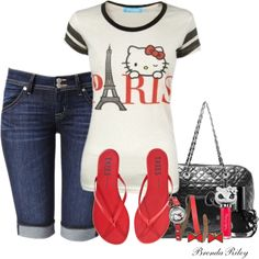 Hello Kitty, created by brendariley-1 on Polyvore