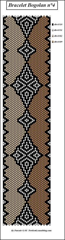 perlicoti-peyote - Page 2 - perlicoti-peyote Peyote Stitch Patterns, Seed Bead Patterns, Beaded Bracelet Patterns, Weaving Patterns, Loom Bands, Mochila Crochet, Art Perle, Loom Bracelets, Graphics