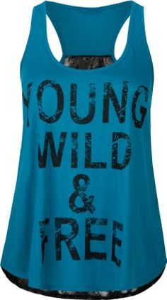 Amazon.com: FULL TILT Young Wild & Free Womens Tank: Clothing