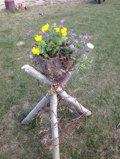 Saw this at a greenhouse yesterday Just saved myself 5000 by making it myself Garden Whimsy, Diy Garden Decor, Garden Art, Garden Design, Landscape Design Program, House Plants Decor, Rustic Gardens, Easy Garden, Outdoor Plants