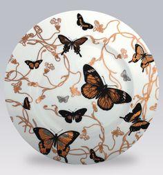 Butterflies Dinnerware by Caskata | Gracious Style