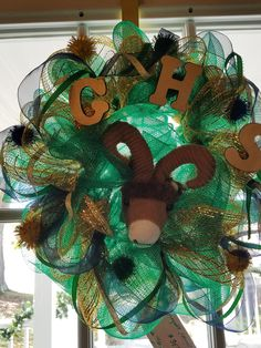"Show your Grayson Spirit year-round with this 15"" GHS Wreath!  $35"