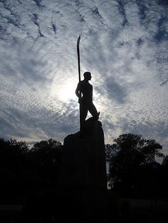 Statue of Hanlan, famous Canadian rower after whom Hanlan's Point was named (part of Toronto Islands) Toronto Island, Public, Silhouette, Statue, Sculptures, Sculpture