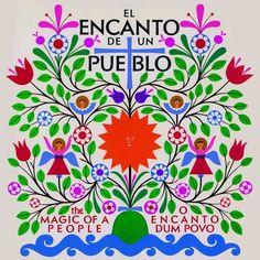 "Alexander Girard, cover illustration for the book ""El Encanto de un Pueblo"" / The Magic of People, 1968. Viking Press. Exhibition Vitra Design Museum: Alexander Girard. A Designer's Universe. Until 29.01.2017"
